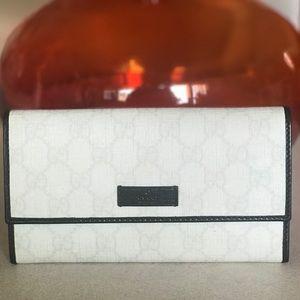 GUCCI GG PLUS Monogram Continental B&W Wallet ♥️♥️